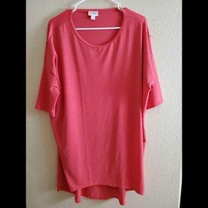 Lularoe Irma Coral Slinky Tunic Dress Medium